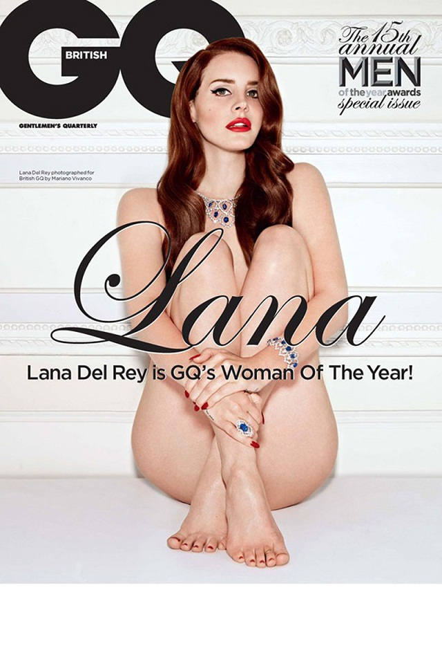 Lana Del Rey goes naked on GQ Magazine cover