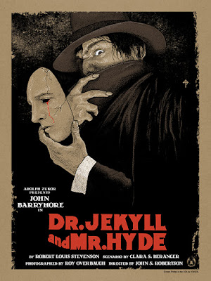 Dr. Jekyll & Mr. Hyde Variant Screen Print by Timothy Pittides x Mad Duck Posters