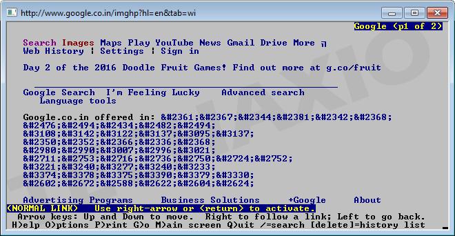 Lynx Browser Screenshot