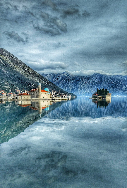 зима в черногории, боко-которский залив зимой
