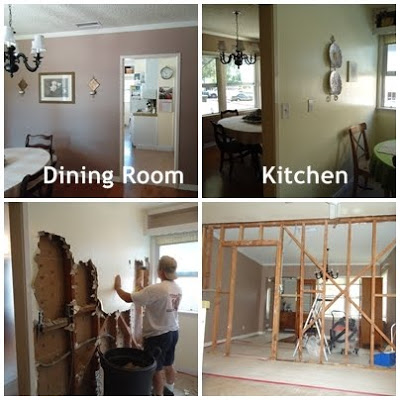 Kitchen wall torn down :: OrganizingMadeFun.com