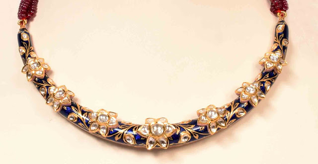 surana-jewellers-rajasthani-hasli-necklace-blue-meena