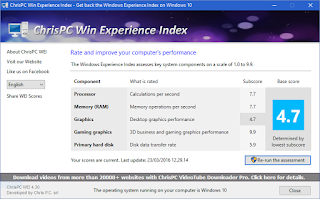 ChrisPC Win Experience Index - Pic1