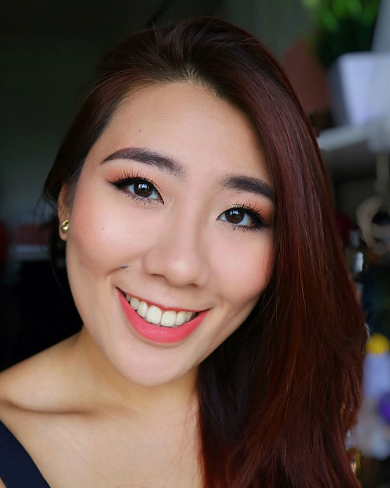 Colourpop Peachy Keen Eyeshadow Quad Makeup Tutorial and Jeffree Star Lipstick in Checkmate