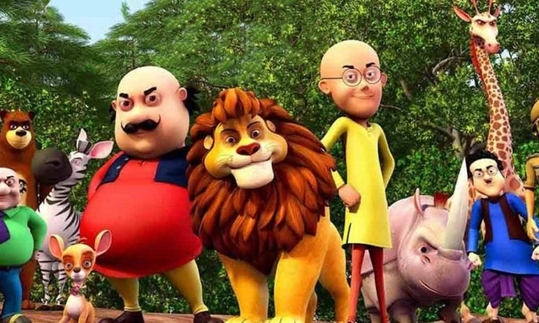 Motu Patlu hd wallpapers with king of forest free downloads