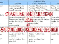 Download Panduan Penilaian Kurikulum 2013 SMA Tahun Pelajaran 2017/2018