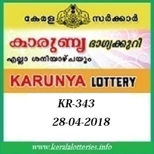 KARUNYA KR-343 LOTTERY RESULT