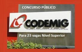 Edital Codemig Concurso 2015 cargos Nível Superior em Minas Gerais - MG
