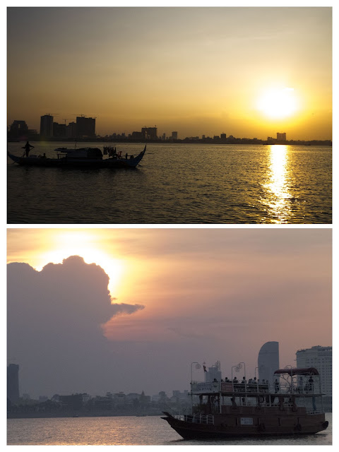 Sunset cruise on the Tonle Sap and Mekong Rivers in Phnom Penh, Cambodia