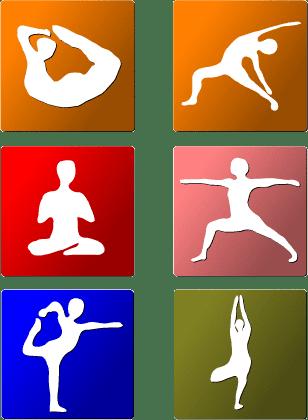 Iconos de Yoga - Vector