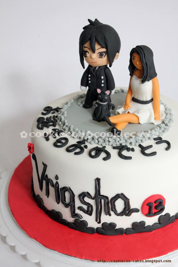 Cookiecoo Kuroshitsuji Black Butler Cake For Vrisqha