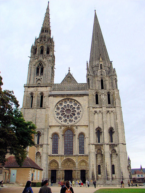 Notre Dame De Chartres In Stunning Example Of Gothic Architecture