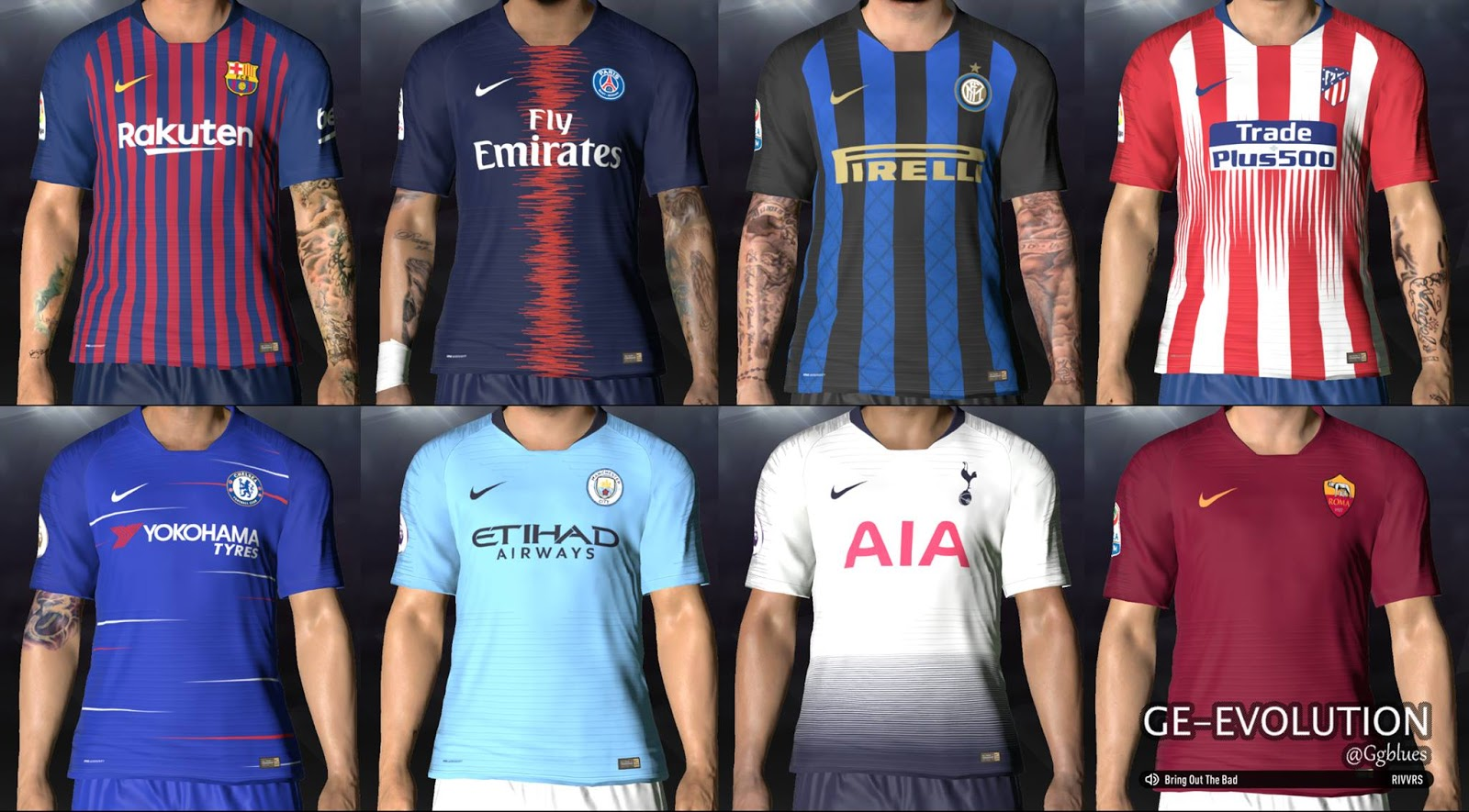 Pes-modif: Nike Home Kits 2018-19 Leaked For PES 2017 By
