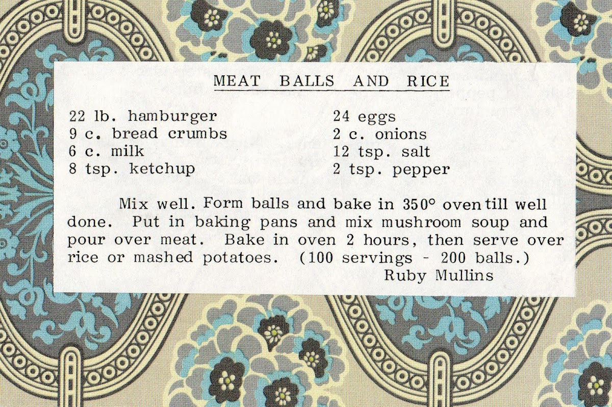 Meat Balls and Rice (quick recipe)