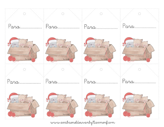 etiquetas navideñas para imprimir gratis