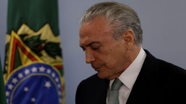Temer asegura que no renunciará a la presidencia pese a investigación por corrupción