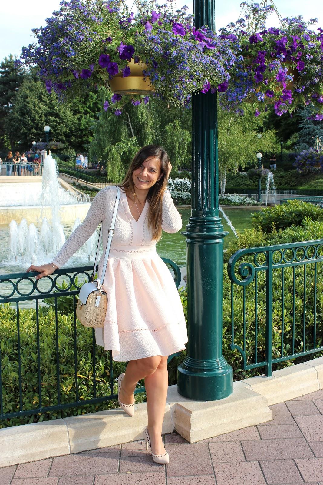 robe rose maje, escarpins rose Minelli, look du jour, les petites bulles de ma vie