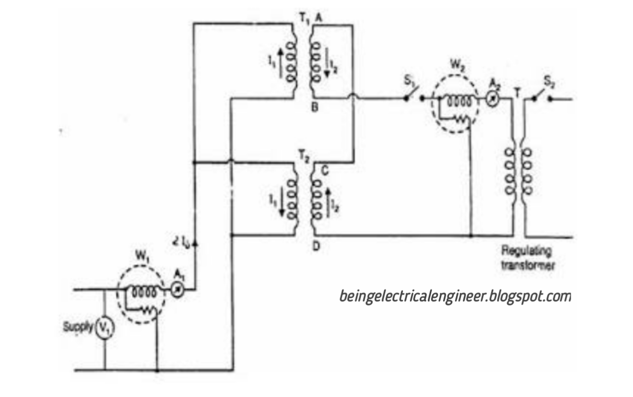 medium resolution of the primary winding of the two transformers are connected in parallel and is supplied at rated voltage and frequency as seen in the figure a voltmeter