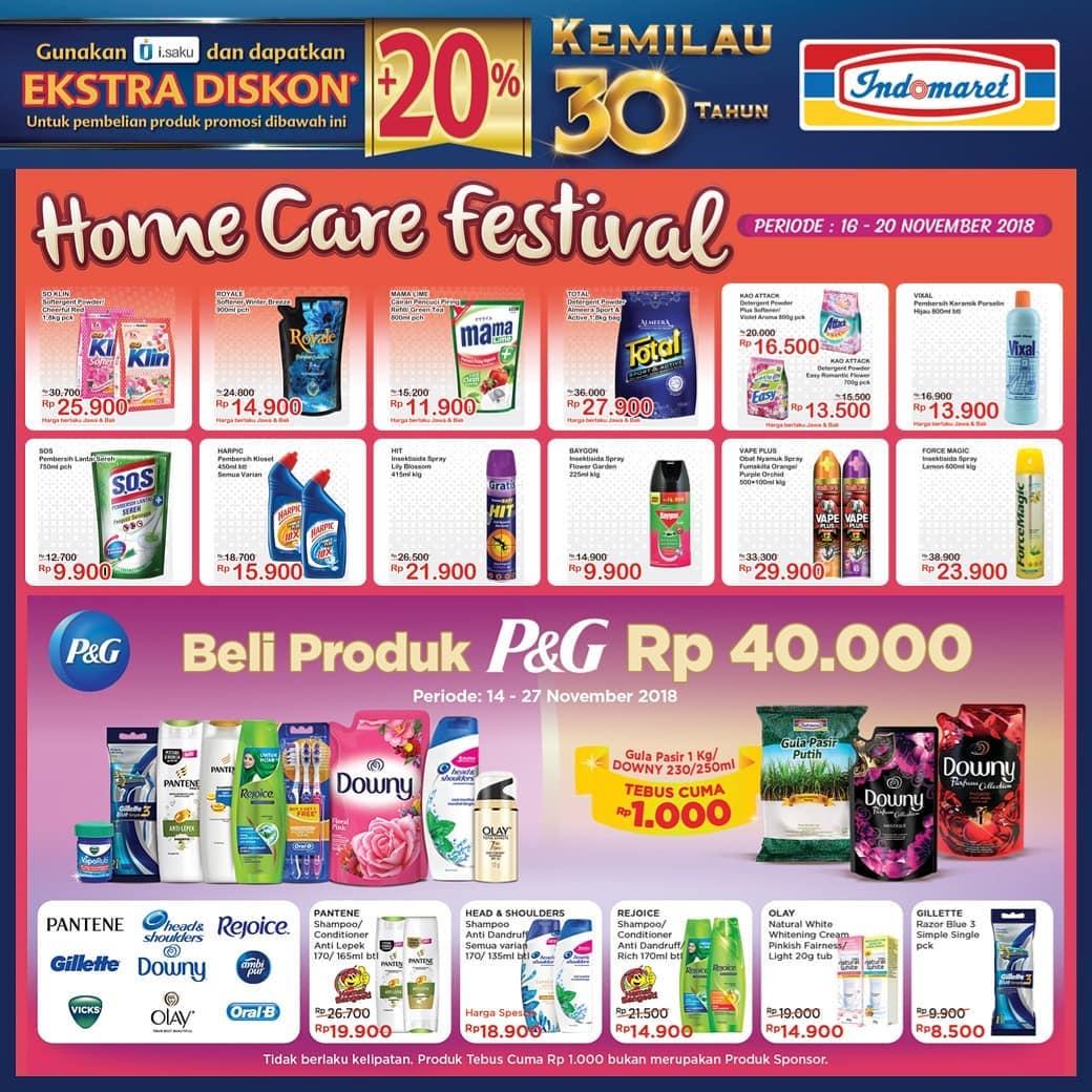 Indomaret - Pomo Health Beauty & Home Care Festival Periode 16 - 20 Nov 2018