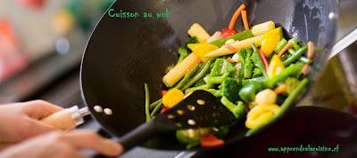 Cuisson au wok