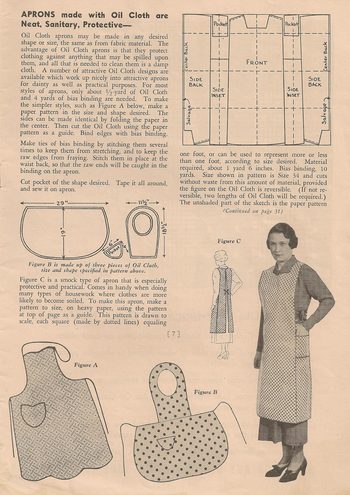 Sentimental Baby Free Apron Patterns