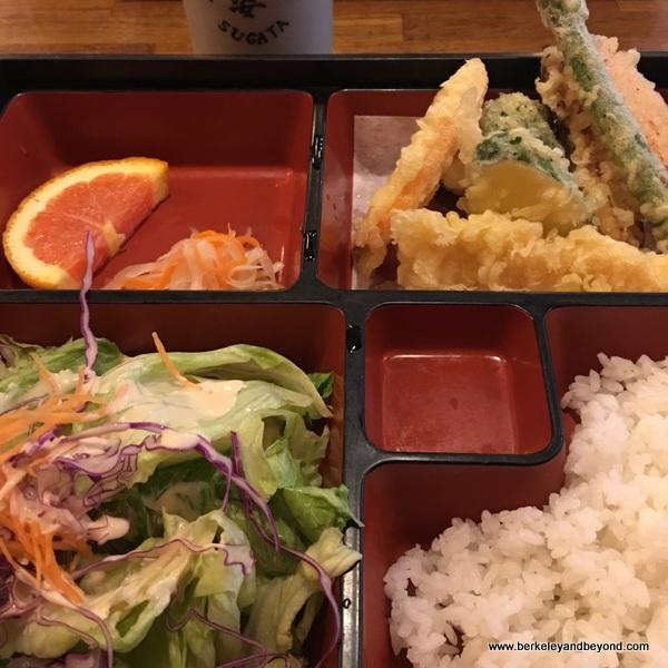 bento box teriyaki tempura at Sugata Japanese Restaurant in Albany, California