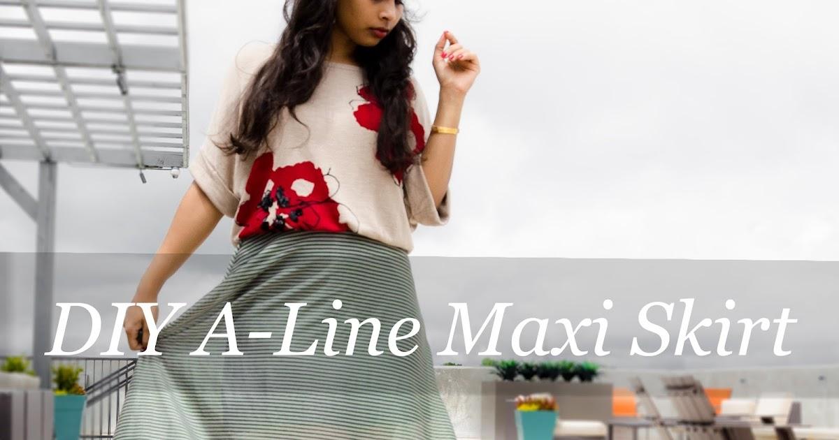 act style diy a line maxi skirt