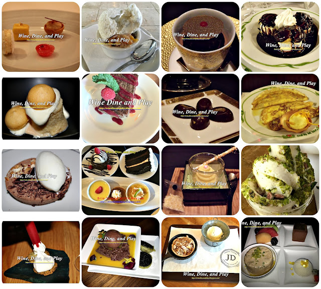 Fine dining restaurant desserts from Wine Dine And Play in Paris, London, and Melbourne