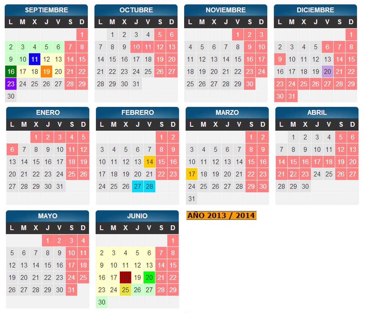 Aragon Calendario Escolar.Profesor De Eso Calendario Escolar Zaragoza 2013 2014