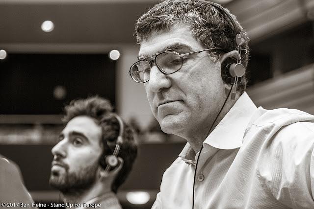 Richard Laub - President of  Stand Up For Europe - Parlement européen - Photo by Ben Heine