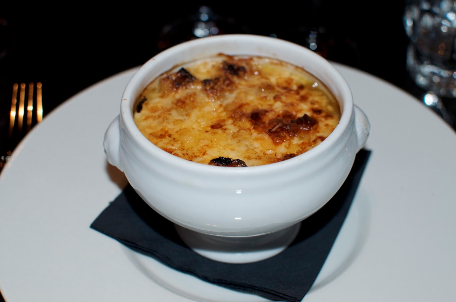 French Onion Soup at Brasserie Joel