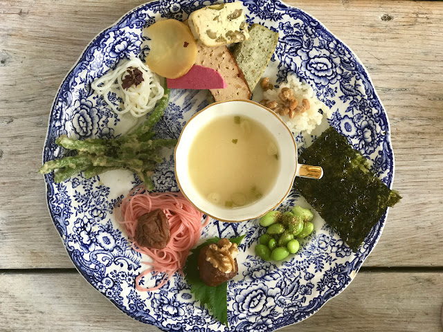Japanese breakfast for the gut micro biome supper club with Msmarmitelover and professor Tim spector