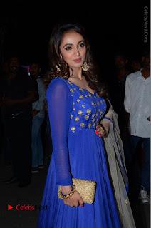 Telugu Actress Tejaswi Madivada Pos in Blue Long Dress at Nanna Nenu Na Boyfriends Audio Launch  0032.JPG