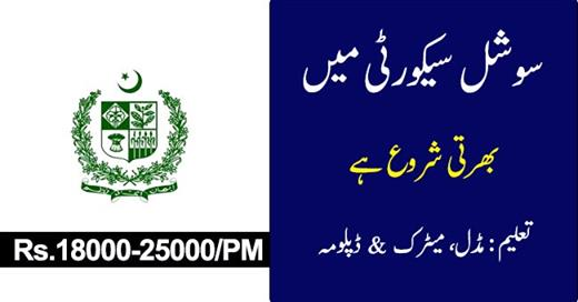 Social Security Health Management Company Jobs (Attractive Salary Packages)Rs. 18,000 to 25,000 Per Month