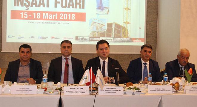 Diyarbakır'da düzenlenecek inşaat fuarının tanıtımı yapıldı