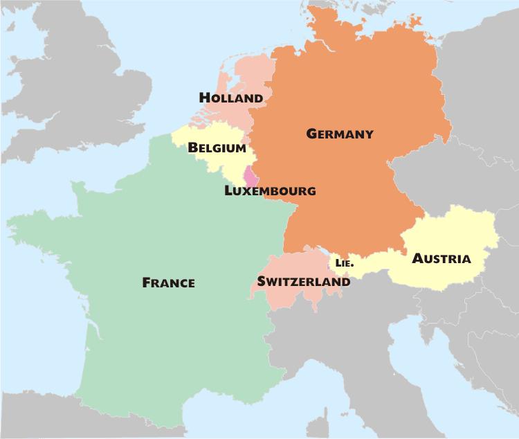 Từ Hà Lan có thể dễ dàng di chuyển sang các quốc gia châu Âu khác