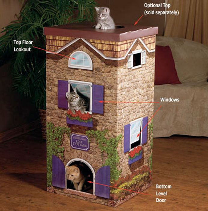 Creative Cat Towers: 31 Cool Cat Houses (31 Pics)