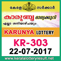 kl result yesterday,lottery results, lotteries results, keralalotteries, kerala lottery, keralalotteryresult, kerala lottery result, kerala lottery result live,   kerala lottery results, kerala lottery today, kerala lottery result today, kerala lottery results today, today kerala lottery result, kerala lottery result   22 7 2017 karunya lottery kr 303, karunya lottery, karunya lottery today result, karunya lottery result yesterday, karunya lottery kr303, karunya   lottery 22.7.2017