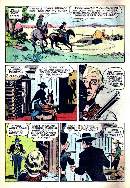 Wyatt Earp v2 #9 - Russ Manning dell western 1960s silver age comic book page art