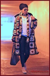 Gigi Hadid crochet jacket free pattern