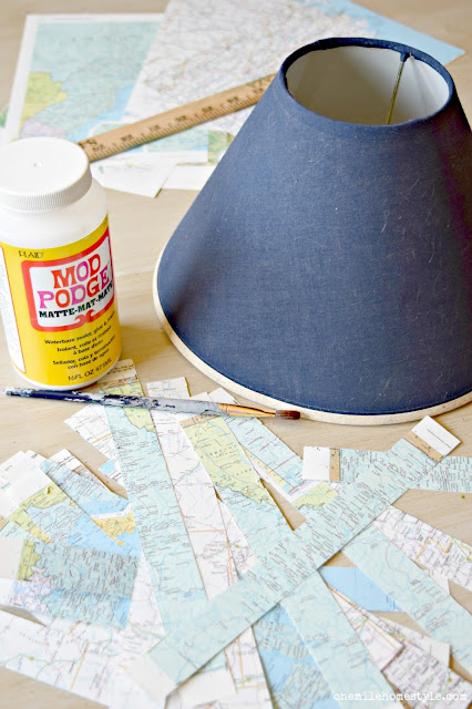 How to makeover an old lamp - One Mile Home Style