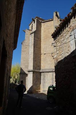 exterior de La iglesia de San Miguel de Lagrasse