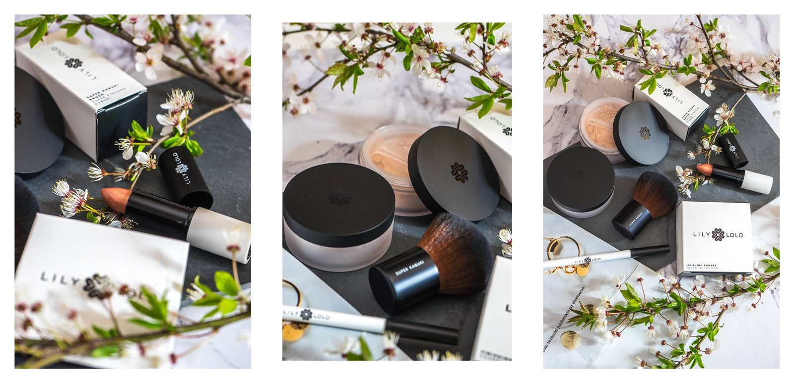 3a jak nakładać kosmetyki mineralne lily lolo opinia recenzja jak stosować puder matujący pędzel super kabuki cena blog szminka naturalne kosmetyki dla wegan puder mineralny podkład kredka do oczu szminka