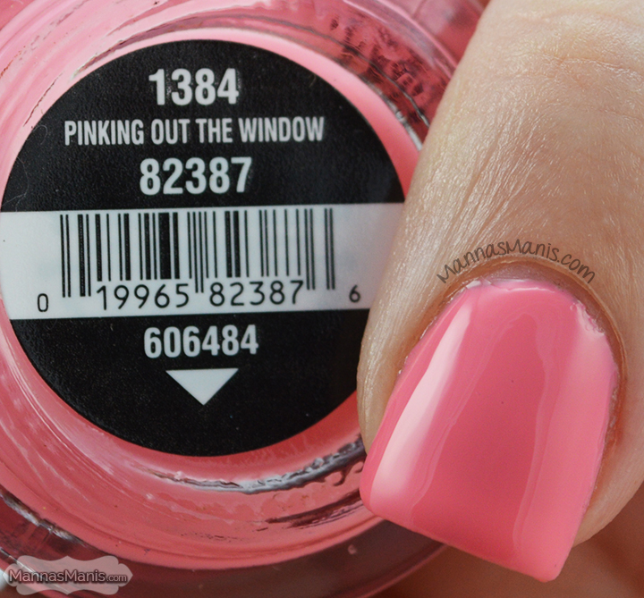 China Glaze Road Trip Pinking Out the Window, a pink creme nail polish