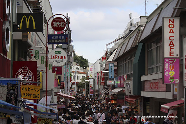 Lots of people in Takeshita street, harajuku, Japan