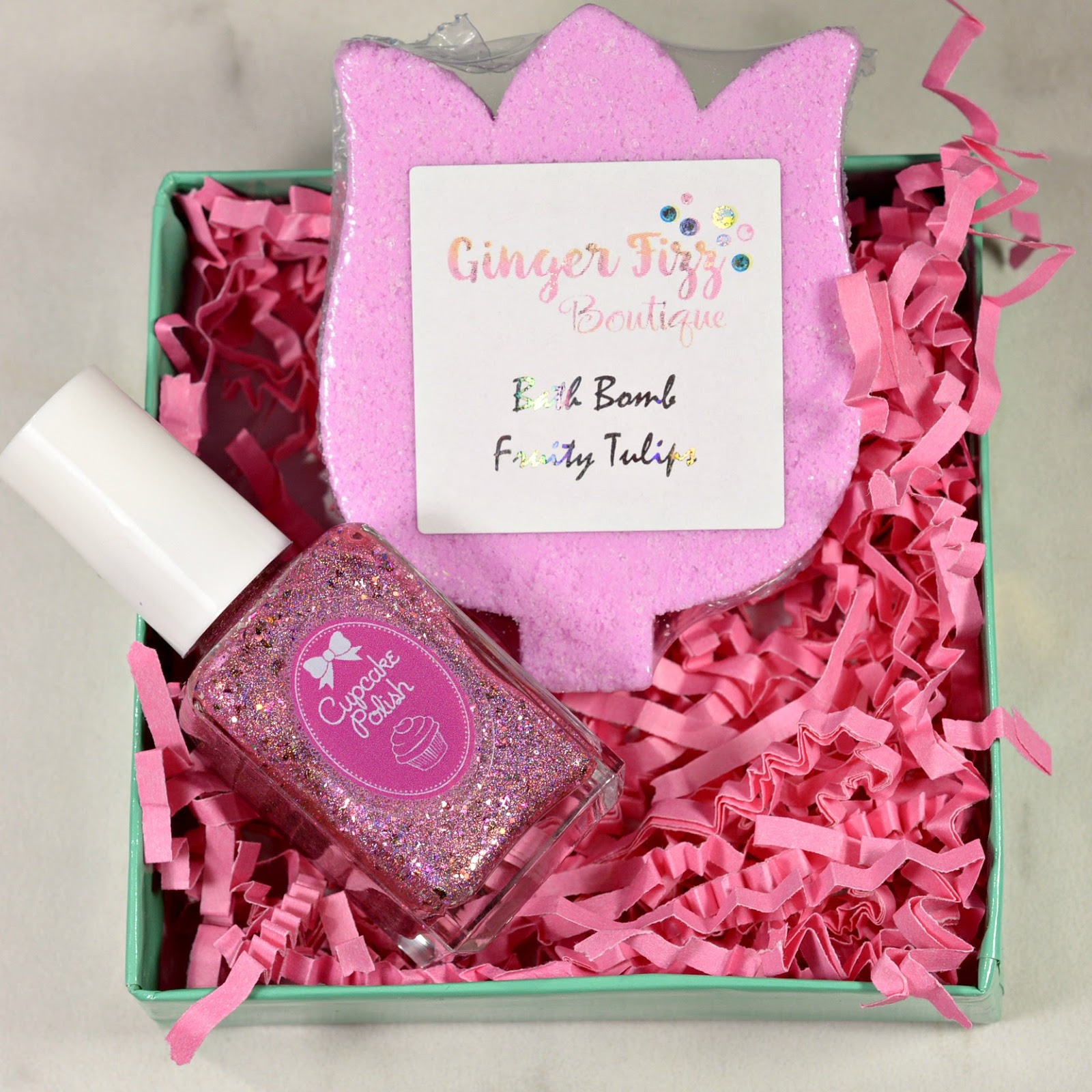 Mother\'s Day Tulip Duo with Cupcake Polish and Ginger Fizz Boutique ...