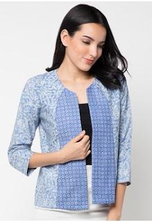 Gambar Baju Kerja Wanita Blazer Batik