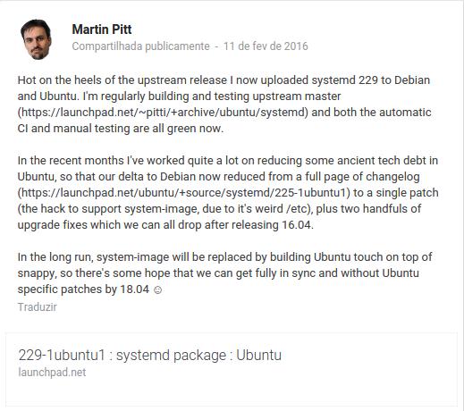 Pacotes do SystemD no Ubuntu 18.04 LTS terá total compatibilidade com o Debian!