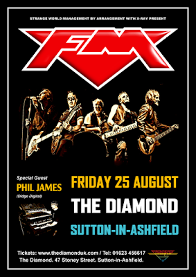 FM / Phil James at Sutton-in-Ashfield The Diamond - 25 August 2017 - poster