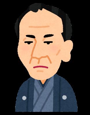 三遊亭圓朝の似顔絵イラスト